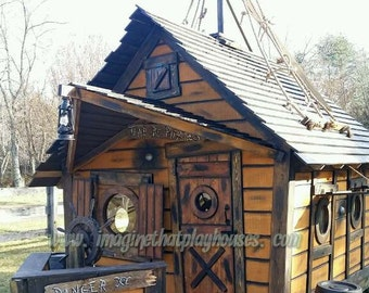 The Pirate House Playhouse by Imagine That Playhouses!