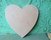 Unpainted Medium Wooden Heart, Unfinished Wood Crafting Supplies, Heart Pattern B