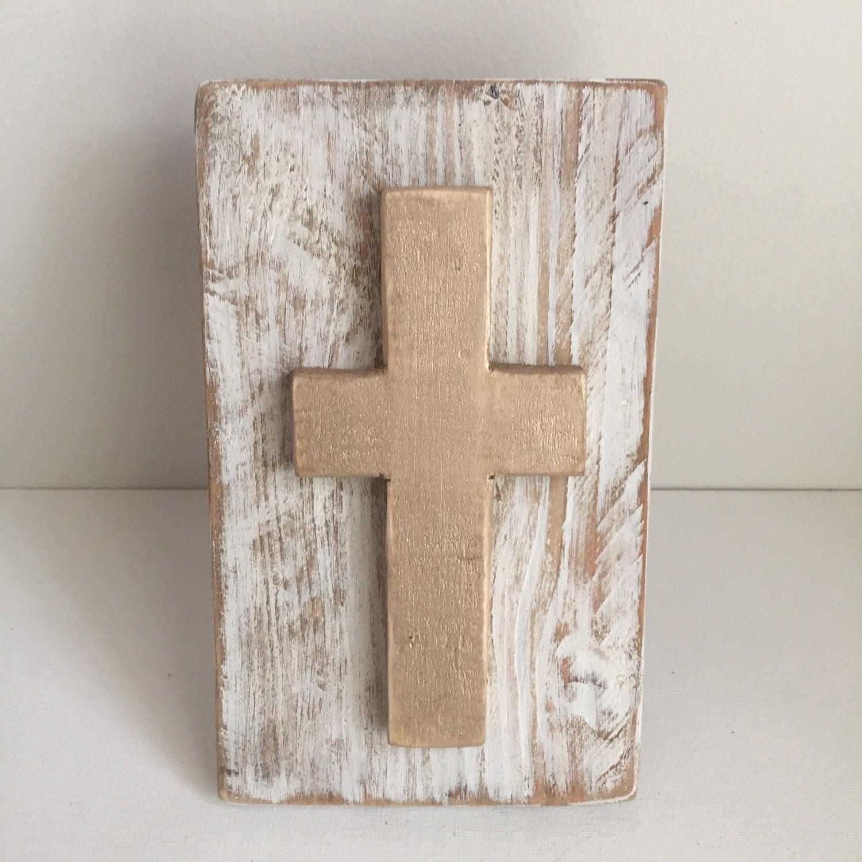 Wood Cross Home Decor Hostess Gift