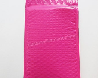 Hot Pink Bubble Mailer 10 Poly Size 0 Self Seal 6x9 Padded Shipping Envelopes