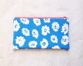 zipper clutch, birthday gift for sister, up cycled, pencil holder, zipper pouch, birthday gift her, bohemian gift, accessory organizer