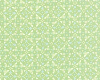 Canyon by Kate Spain for Moda - Geometric - Four Corners - Light Green - Cactus - 1/2 Yard Cotton Quilt Fabric 516