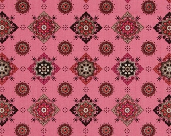 SALE Ansonia by Denyse Schmidt for Free Spirit - Mediallion - Mushroom - 1/2 Yard Cotton Quilt Fabric 516