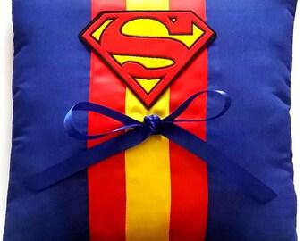 superman wedding ring pillow - Superman Wedding Ring