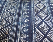ON SALE Handprinted  Hmong cotton, New fabric, Batki  textiles and fabrics- Table runner,