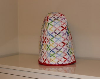 4 and 5 quart Twist-In Bowl - Quilted Mixer Cover for Kitchen-Aid - Multi-color X Print