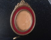 Vintage foto photo  frame concave glass