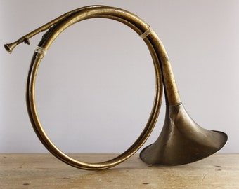 French Antique French Horn....Musical Instrument....Nordic Home Decor....Collectors Item