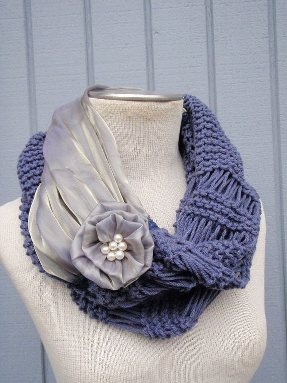 Knitting Accessories : Purple Scarf, Knit scarf, Knitting accessories, Women accessories ...