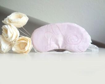 Pink sleep mask, eye mask for travel, sleeping mask, wedding favors for bridesmaids