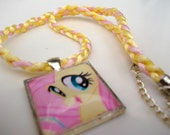 Fluttershy Tile Necklace - My Little Pony Friendship Is Magic