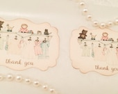 Baby Shower Stickers-Thank You Stickers-Shower and Party Favors-Set of 12