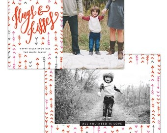 INSTANT DOWNLOAD - Valentine Photocard Template - e1189