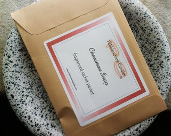 Scented Sachet Packet Cinnamon Snap Spice Fragrance to Freshen Drawers Home Storage Bins Christmas Stocking Stuffer for Him Her Cheap