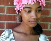Sale-Woodland Wonder Flower Crown- Flower Crown Headband- Pink Flower Crown- Floral Wreath- Cosplay- Costume- Costume Accessories- Unisex