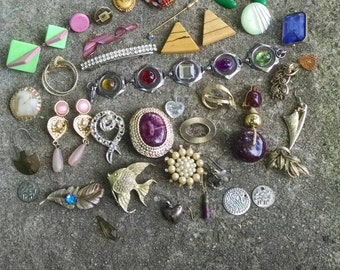 Assorted Jewelry Findings for Upcycling