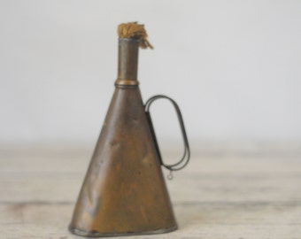 Rare Antique Copper Alcohol Lamp Oil Lamp C S Osborne