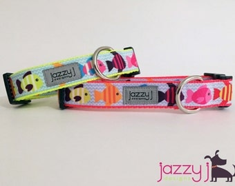 New Tropical Fish Summer Neon Dog Collar