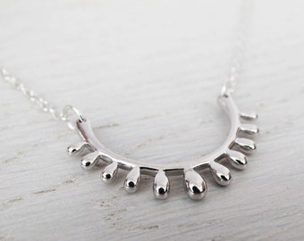 Silver Sunshine Necklace - Sterling Silver