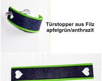 Doorstop Felt apple green / anthracite