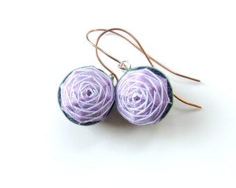 Rose Pattern Temari Earrings