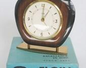 Retro Elgin Desk Alarm Clock with Original Box