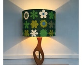 LampShade Handmade From Vintage Genia Sapper Heidi Fabric, US or European Fitting