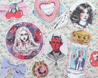 Sweetheart stickers (pack of 9)