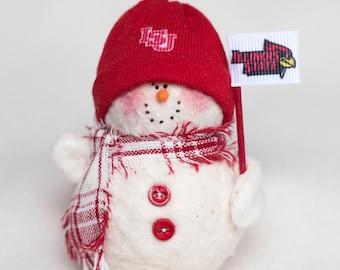 Illinois State Redbirds Snowman Ornament