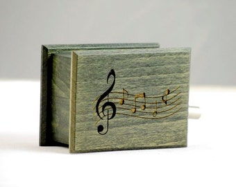 Customizable gift personalized text music box sheet music custom music own individual optional music