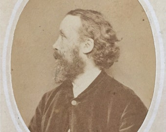 Original Antique CDV Photograph Portrait of an Old Man