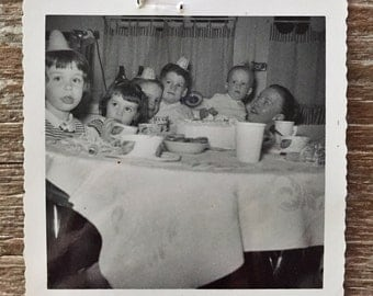 Original Vintage Photograph Birthday Party 1958