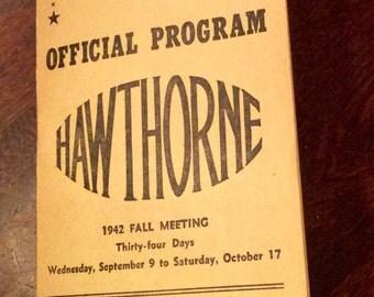 1942 Horse Track Betting Program