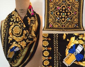 Lillie Rubin lipsticks silk scarf