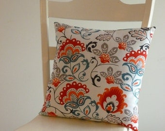 Red teal pillow Etsy