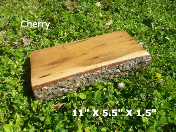 Live edge finished cherry wood slab diy by hurricanemilling for Finished wood slabs