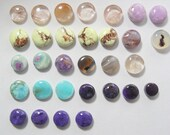 8- 11 mm natural Designer Cabochons, 12.00 each, ring size, small cab.  (SC2461)