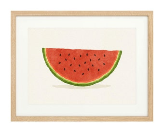 Watermelon Slice - Large - Limited Edition Print
