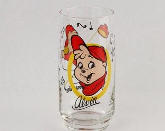 Vtg Alvin and The Chipmunks Drinking Glass Tumbler 1985