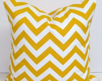 GOLD Chevron Pillows Sale, 18x18 Inch Decorative Pillow Cushions, OUTDOOR Pillow Cover, Decorative Pillow, Outdoor Pillow, Chevron Pillow,