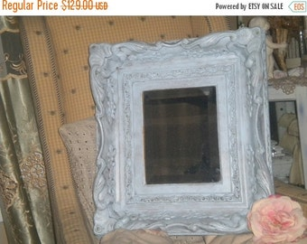 SUMMER SALE Gorgeous Vintage Ornate Heavy Wood Framed Beveled Glass Mirror, Eclectic Decor, Shabby Chic, French Country