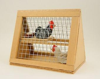 Decorative chicken coop, Chicken coop ornament, Chicken decor, Chicken art, A Piece of the Farm, Chicken gifts