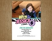 Wild Kratts Party Invitation - Girl Birthday - Thank You card free - DIY Self Printable File Only