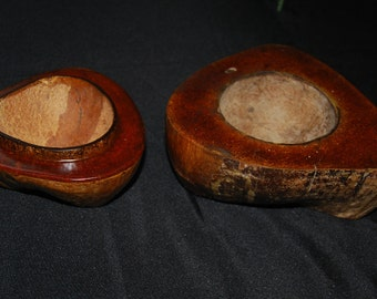 Vintage coconut shell candy dishes