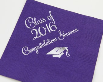Class of 2018 - Personalized Graduation Napkins