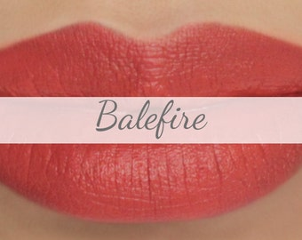 "Sample Vegan Lip & Cheek Cream - ""Balefire"" (bright orange lipstick / cream blush)"
