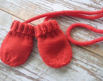 Toddler Red Mittens ETHAN