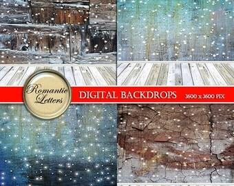 Winter Digital Backdrop for Newborn Photography Digital winter backdrop prop digital scrapbook background winter snow digital backdrop