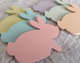 Bunny Rabbit Die Cuts, Paper Bunny Shapes, Easter Party Decoration - 3 Inch Rabbits, Set of 15