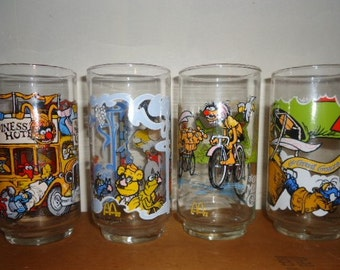 The Great Muppet Caper Set of 4 Drinking Glasses 1981 Vintage
